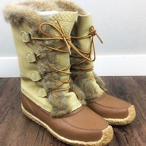 Vintage Sorel Fur Boots sz 8